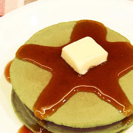 クロレラ茶パンケーキ