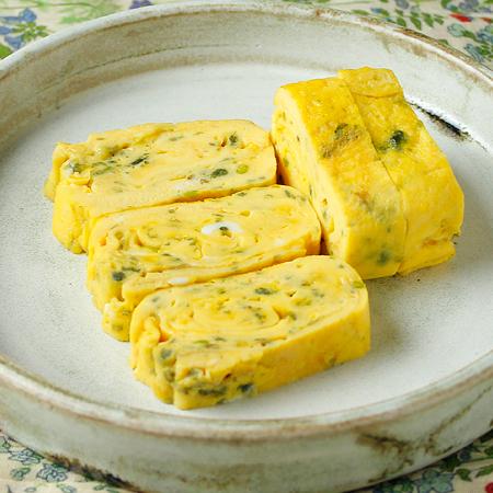 緑がとれる卵焼き