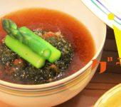 揚げクロレラ茶巾豆腐