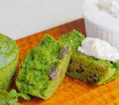 ヴィーガンスイーツレシピ 米粉のクロレラカップケーキ