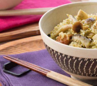 プチプチこく旨★玄米キノコ炊き込みごはんのレシピ