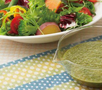 緑黄色野菜との相性抜群!グリーンオイルドレッシングレシピ